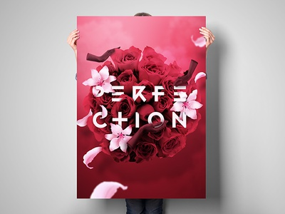 Perfection. Poster flowers collage roses graphic design poster
