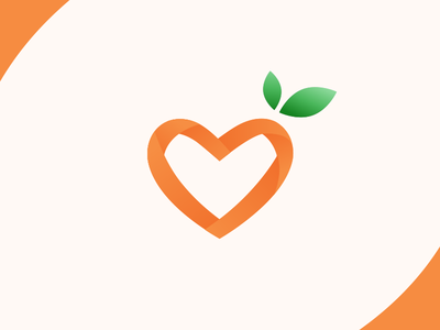 Vkus Zdorovya Logo gradient logotype logo heart healthy health food delivery design branding identity brand illustration