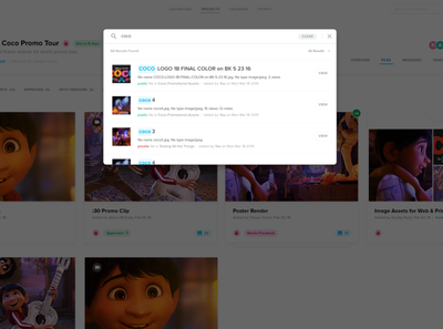 Search modal interface ui tags search