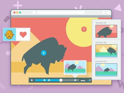 Video Player illustration collaboration approvals timeline versions tasks annotations notes player video