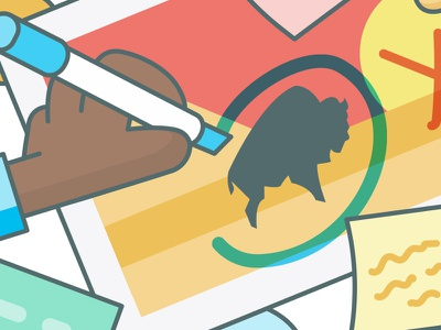 Annotations motion hands marker bison illustration collaborate markup annotate annotations