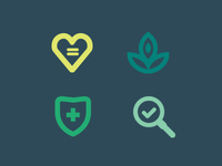 Social interests icons