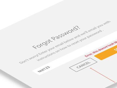 Forgot Password Flow forgot password desktop wireframe perspective