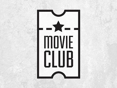 Movie Club movie club ticket logo star