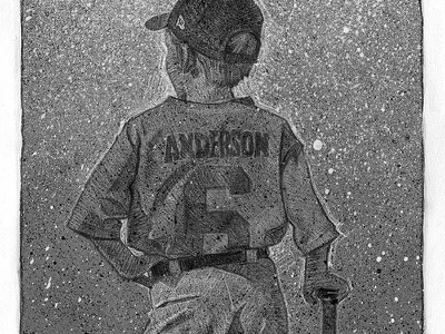 Baseball Poster baseball illustration pencil acrylic poster