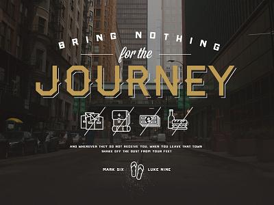Journey journey type icons bring nothing mission faith trust mark luke