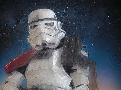Sandtrooper illustration stormtrooper sandtrooper