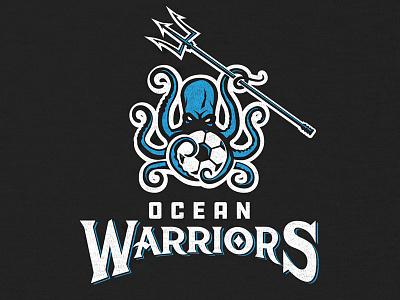 Ocean Warriors Soccer Team team soccer warriors ocean trident kraken logo