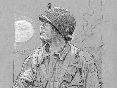 Soldier Sketch pencil bw sketch soldier