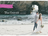 Postcard design for True Emerald