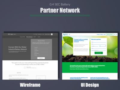 SEC Battery - Partner Network web user experience portfolio ui wireframe expert ux india designer design best top