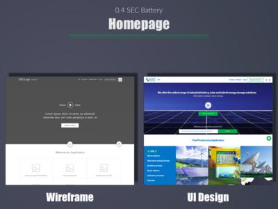 SEC Battery -  Homepage web user experience portfolio ui wireframe expert ux india designer design best top