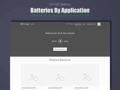 SEC Battery - Batteries by Application top best design designer india ux expert wireframe ui portfolio user experience web
