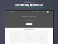 SEC Battery - Batteries by Application