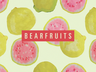 Bearfruits Guava pattern design pattern guava fruit illustration typogaphy logo logo design branding design