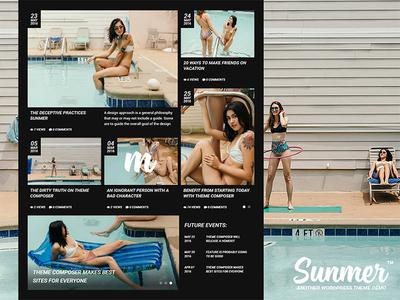 Sunmer — Creative Blog webdesign web ux ui theme site pink navigation modern menu design black