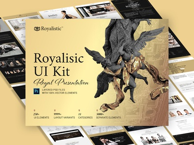 Royalisic UI Kit — Luxury Presentation layout imperial premium web design lux presentation gold website kit ui royal luxury