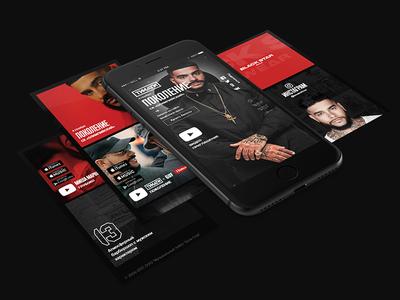 Timati — Official Website Concept ui presentation premium lux layout red black design web website timati