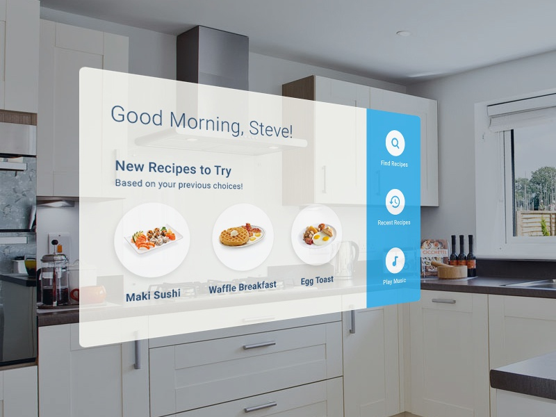 Augmented Reality Kitchen App design spatial ui 3d mixed virtual reality augmented