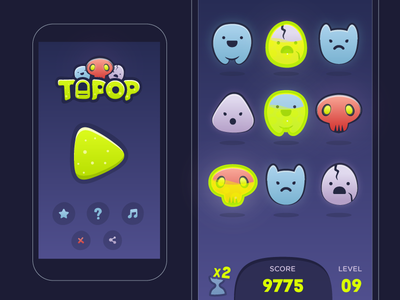 Tapop (Tap + Pop) Game UI design
