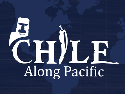 Chile Logo pacific backpacker world tour holiday travel logo chile