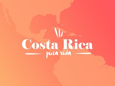 Costa Rica Logo world map puravida rica costa backpacker trip logo travel