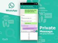 Day 4 - Whatsapp Private Talk into group discussion