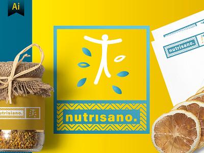 Brand identity modern graphic visual illustrator logo food healthy nutrition identity brand