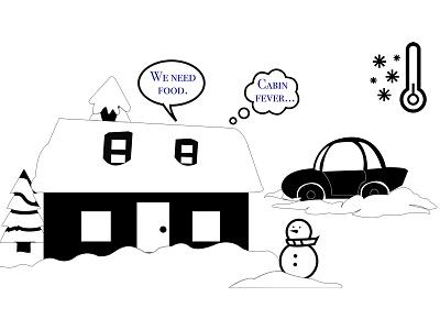 Snowed-in Scene adobe illustrator video animation