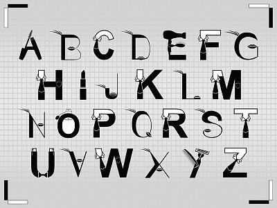 Glamorous Typography Alphabet type adobe illustrator