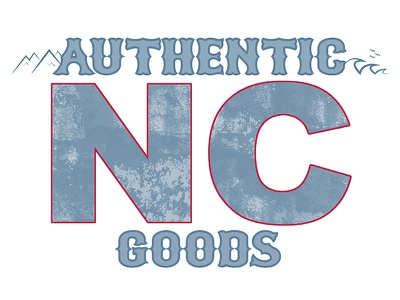Authentic NC Goods Logo north carolina adobe photoshop adobe illustrator logo
