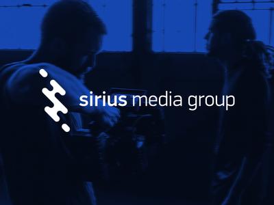 Sirius Media Group Logo media media logo sirius logo simple logo flat logo flat logo design streaming logo streaming s logo s logo