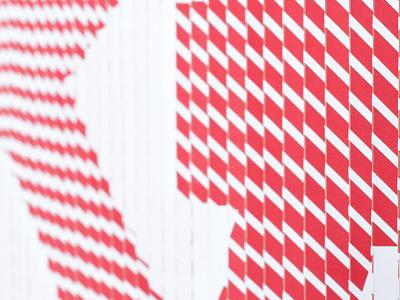 White & Red Detail craft lenticular ampersand cut laser paper