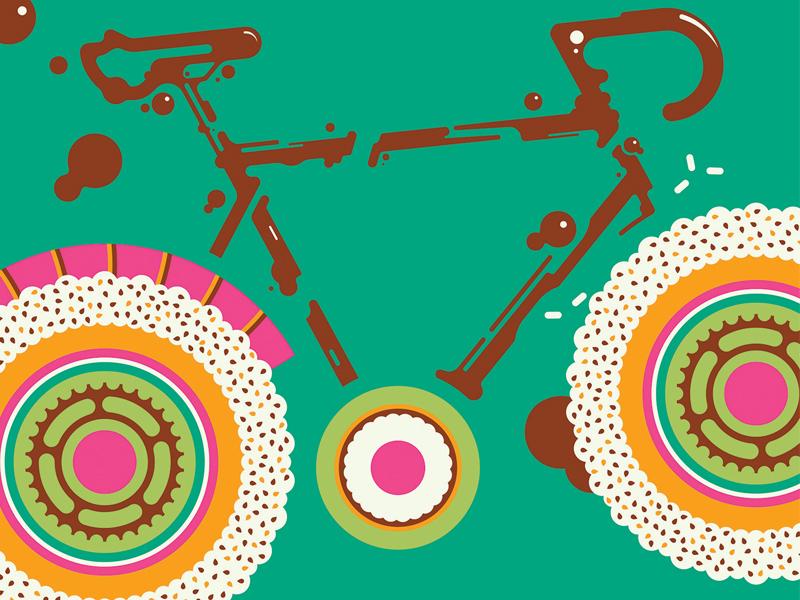 ARTCRANK Sushi nigiri soy sauce french paper cycling bike sushi artcrank