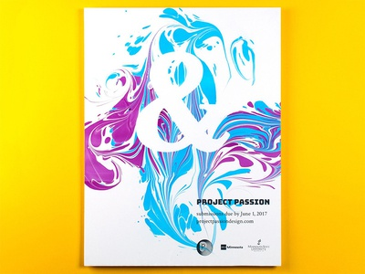 Project Passion 2017 show passion ampersand marbling poster callforentries