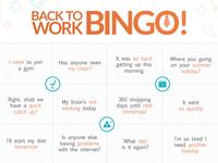 Back to Work Bingo!