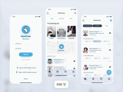 MuleChain iOS App ios blockchain nem delivery p2p app