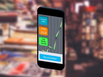 GrowthTracker percentage math graph ui018 tracker growth mobile