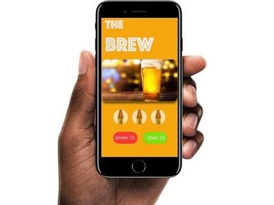 The Brew Ui App mobile buttons login application concept brew app ui