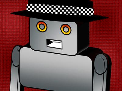 Ska Robot Loves Ska Music robot daily illustration rebounds rebound