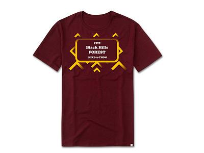 Black Hill Forest Hike-A-Thon T-Shirt 1999 mockup shirtdesign shirt rebound