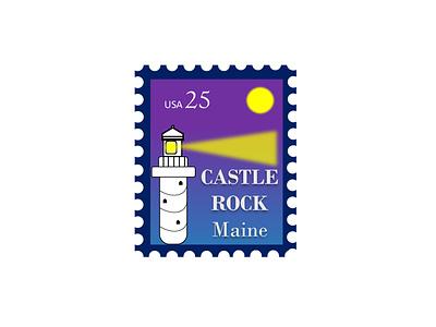 Castle Rock 25cents icon illustration design branding logo lighthouse rock castle rebound