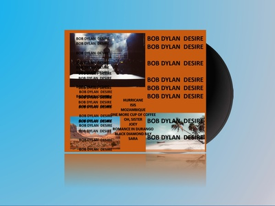 Record Cover - Bob Dylan Desire - 1976 reimagined record community daily typography design branding illustration rebound lifeofpablo brutalism