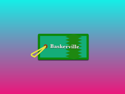 Baskerville Gift Tag community gift holepunch color typography holidays card rebound dailyshot print font