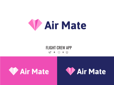 Air Mate app Logo paper plane avion dates tinder vector ui icon illustration logo branding identity