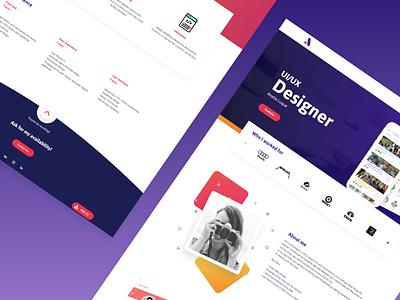 Portfolio design designer portfolio website ui design ux design web design ux ui graphic design logo identity branding design