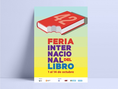 Book fair poster design libro feria fair book afiche poster editorial vector illustration graphic design design