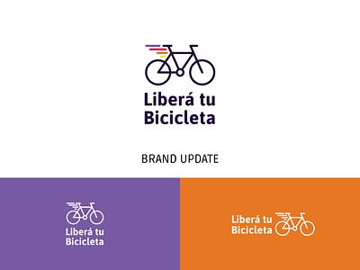 Libera Tu Bicicleta Re-branding fast brand bicycle logotipo logotype identity branding design branding logo bike fly wings