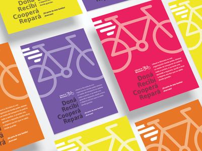 Libera Tu Bicicleta Re-branding Flyers color design brand folleto brochure flyer fast wings fly bicicleta bicycle bike typography illustration graphic design logo identity branding