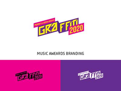 Music awards branding graffiti identidad musica logotype logo vector design typography graphic design pop rock music identity brand branding